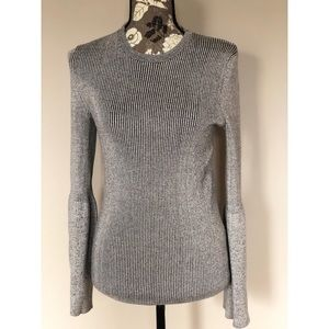WHO WHAT WEAR bell sleeve sweater